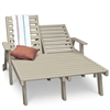 Double Chaise Lounge - Tall with wheels