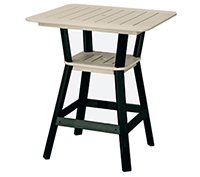 "36"" Square Counter Height Table and 4 Swivel Stools"