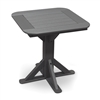 "28"" Square Pedestal Table with 2 Folding Chairs"