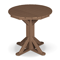 "31"" Round Pedestal with 2 Folding Chairs"