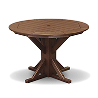 "Pedestal 44"" Framed Round Table - 4 Folding Chairs"