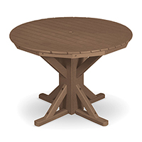 "42"" Round Pedestal with 4 Folding Chairs"