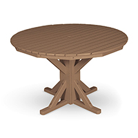 "48"" Round Pedestal Table with 4 Folding Chairs"