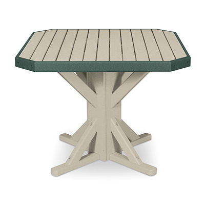 "38"" Square Pedestal Table with 4 Stationary Chairs"