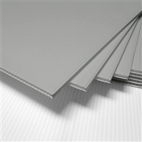 "18"" x 24"" Blank Corrugated Plastic Sheets - Silver"