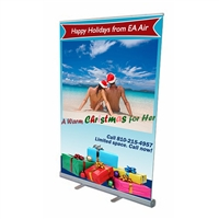 "57"" Roll Up Retractable Banner Stand"