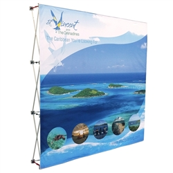 8' Fabric Pop Up Display With Fabric Print