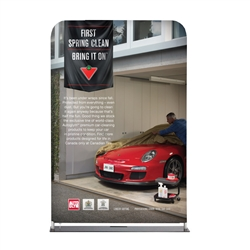 4' Straight Tube Banner Display with Fabric Print