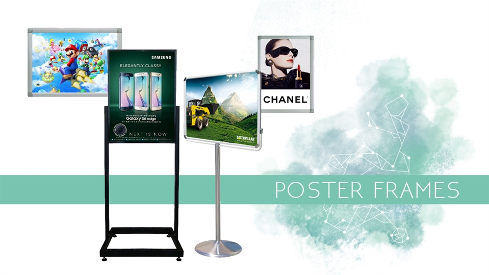 Outdoor poster frames