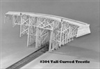 Tall Curved Trestle Kit HO scale