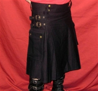 Modern Kilts - Black Denim