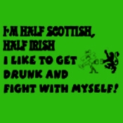 T-Shirt - Half Scottish, Half Irish (Green)