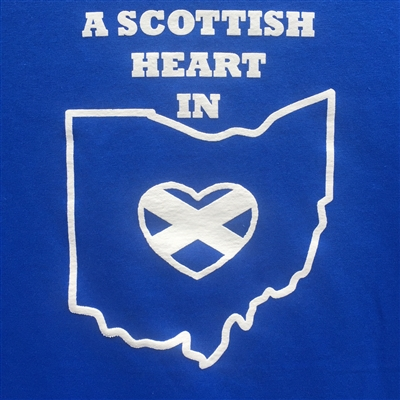 Scottish Heart in Ohio T-Shirt