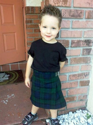 Kid's Kilt - Black Watch Tartan