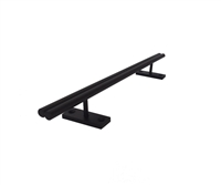 tall Shotgun Straight Powder Coated Steel Rail - Powder Coated matte Black