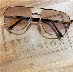 Hilton Manhattan 202 C3 24kt Vintage Sunglasses w/ Custom Lenses