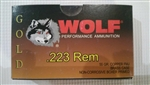 Wolf 223 55gr. FMJ 500 rounds