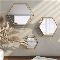 5216 - Shanton Hexagonal Wall Mirrors (Set of 3)