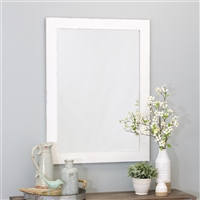 6121 - Morris Wall Mirror - White 40 x 30