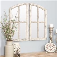 6138 - Jolene Arch Window Pane Mirrors (Set of 2)