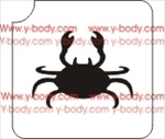 crab glitter tattoo stencil