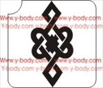 celtic knot stencil for glitter, airbrush and temporary tattoos