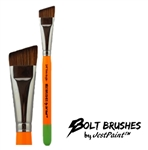 Bolt brush medium firm angle for one stroke roses and butterflies face painting with thick handle