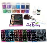 Glitter Tattoo Kit, Glimmer tattoo, henna Tattoos, Airbrush tattoo Pro Kit