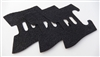 Glock Gen 4 Rubber Wrap Around Grip Tape Decal - 3 Pack