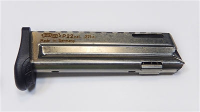 Walther P22 factory 10 round magazine with Finger Rest
