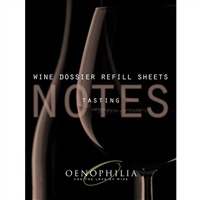Wine Dossier Tasting Notes, 48-Sheet Refill