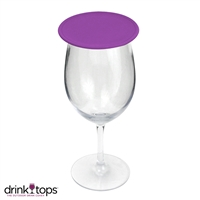 Tap & Seal Wine Glass Cover, Violet