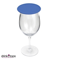 Tap & Seal Wine Glass Cover, Royal Blue