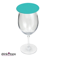 Tap & Seal Wine Glass Cover, Turquoise