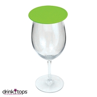 Tap & Seal Wine Glass Cover, Lime