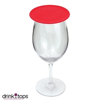 Tap & Seal Wine Glass Cover, Red