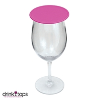 Tap & Seal Wine Glass Cover, Hot Pink