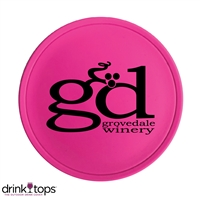 Custom Tap & Seal Wine Glass Cover, Hot Pink