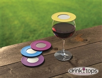 Ventilated Wine Glass Covers (2-Pk) -  Wine Country