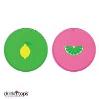 Wine Glass Covers (2-Pk) - Lemon/Lime