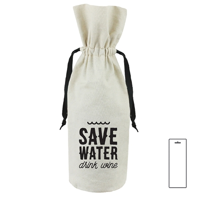 Canvas Wine Bag, Save Water