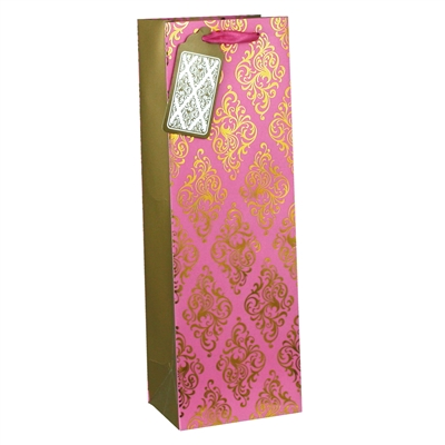 Glam Wine Bag, Rose