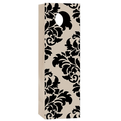 Uptown Bottle Tote, Damask