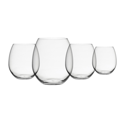 "Clearâ""¢ Shatter-Proof, Stemless Drinkware, Set of 4"