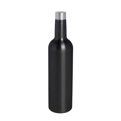 Wine Bottle Flask, Black