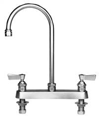 Fisher - 1821 - 8-inch Deck Mounted Faucet - 6-inch Swivel Gooseneck Spout