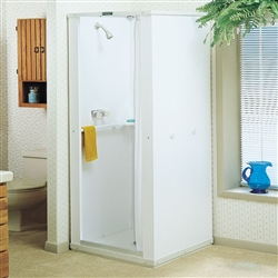 Mustee 30 DURASTALL Shower Stall, 30-inch x 30-inch Standard Base