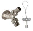 Prier Products - C-255NP.50 - Loose Key Angle Sill Faucet, Anti-Siphon, 1/2-inch FPT, Satin Nickel Plated
