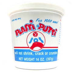 SOS Products PP-1 Plasti-Putti Plumber's Putty is designed for 1001 uses. This is our recommended choice of putty for all plumbing applications because it will not shrink, crack or crumble.