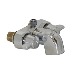 Spring House - R3100B - Front Mounted 'Tub-On-Legs' Faucet with Riser Adapter for Overhead Shower